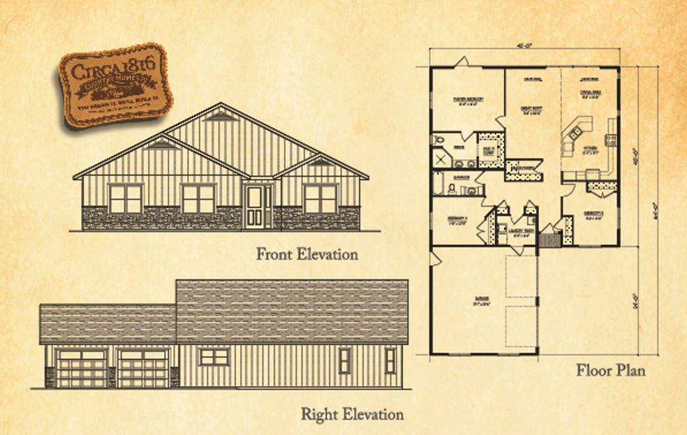 Home Design Plans Three Bedroom Custom Bungalow Two