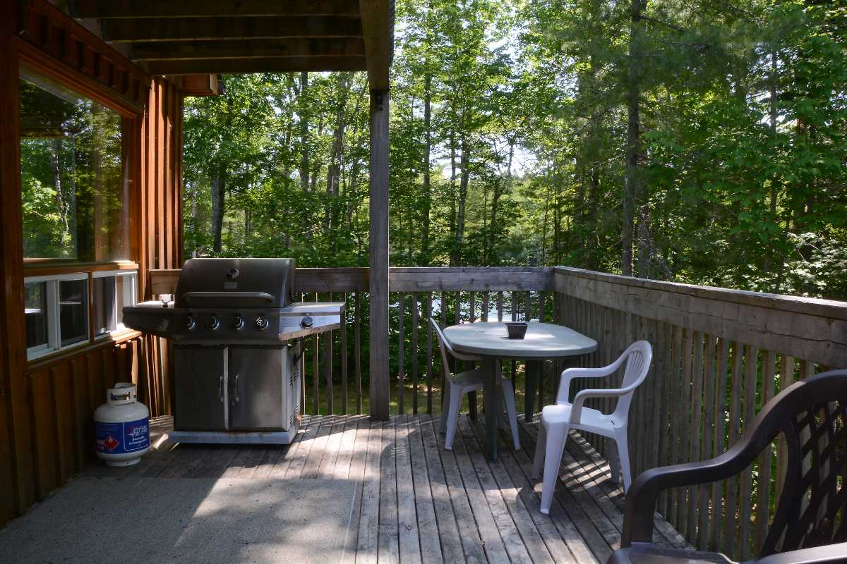 Relax on the back deck